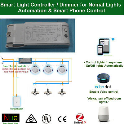 Smart Philips Hue Compatibl ZigBee light Switch Controller Dimmer 4 normal light
