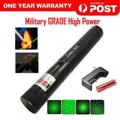 Military High Power Green Laser Pointer Pen with Rechargable Battery