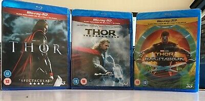 Thor: 3-movie Collection 3D Blu Ray