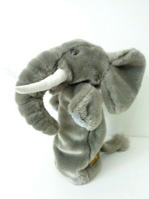 """The Puppet Company Elephant Long Sleeved 15"""" Hand Puppet - Soft Plush Toy"""