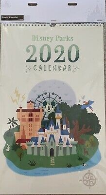 NEW Disney Parks 2020 ATTRACTIONS Poster 12-Month Calendar