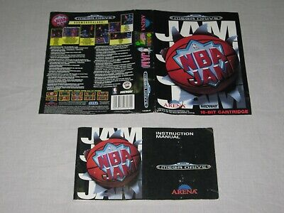 NBA Jam - SEGA Mega Drive - Manual/Sleeve Only - No Game - PAL