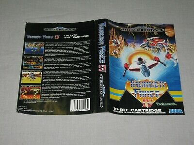 Thunder Force IV - SEGA Mega Drive - Sleeve Only - No Game - PAL