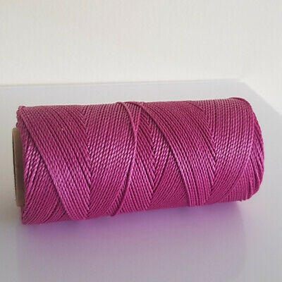 Linhasita Waxed Polyester Cord 1mm -10 meter length various colours not on spool