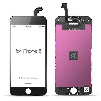 Top LCD Display Digitizer Touch Screen Replacement Assembly  For iPhone 6 Black