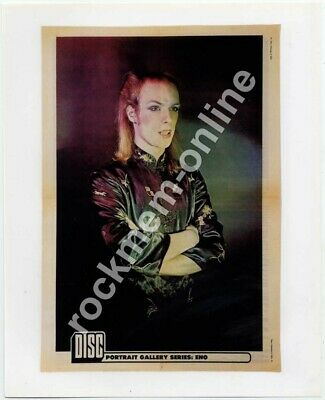 Brian Eno Roxy Music 1974 Reproduction Generic Poster