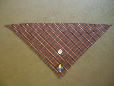 Bsa Boy Scouts Of America Plaid Cub Scout Webelos Neckerchief, Bandana, Scarf