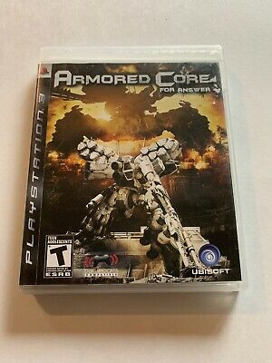 Armored Core For Answer (Sony PlayStation 3, PS3) Game, Case, & Booklet