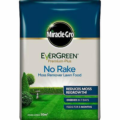 5kg Miracle-Gro EverGreen Premium Plus No Rake Moss Remover Lawn Food 50m² UK