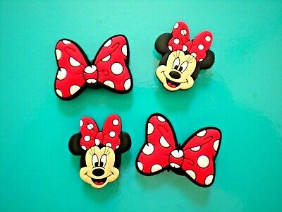 Minnie Mouse Shoe Charms Shoe Buttons Cake Toppers Croc Decorations Accessories