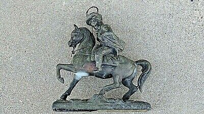 General Custer cowboy on Horse Antique Statue clock mantle piece