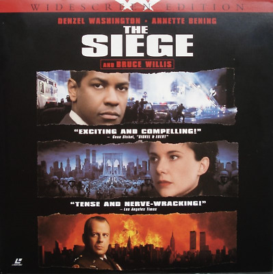 SIEGE (THE) WS AC3 CC NEUF N&S NTSC LASERDISC Denzel Washington, Bruce Willis