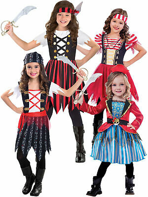 Boys Seven Seas Pirate Caribbean Treasure Fancy Dress Costume Childs Outfit