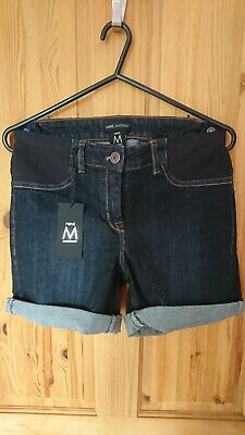 New Next Maternity Dark Denim Shorts Size 6 Next Pregnancy Summer Shorts  RRP£22