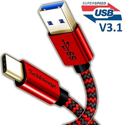 FAST CHARGING USB 3.1 Type C to USB Cable Braided for Samsung S8/S9/S10 Note lot
