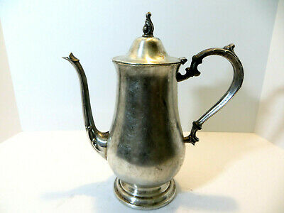 Vintage Rodgers & Bros Silver Plated Heavy Ornate Pitcher, Marked