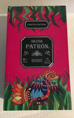 Patron Silver Tequila Tin Container. Limited Edition Empty 4.5x8 Inches