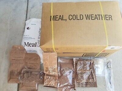 Genuine U.S. Military Cold Weather MRE Freeze Dried Food Case Of 12