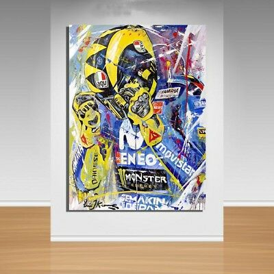 Moto GP Canvas Wall Art - Valentino Rossi
