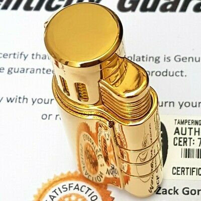 24k Gold Plated Cohiba Triple 3 Flame Turbo Jet Lighter Cigar Punch Gas Gift Box