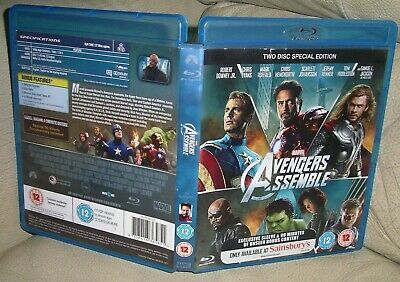 AVENGERS ASSEMBLE BLU-RAY 2 Disc Special Edition Exclusive Sleeve Marvel!!