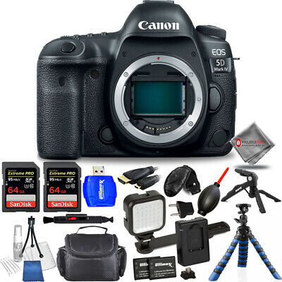 Canon EOS 5D Mark IV 30.4MP DSLR Camera (Body Only) - USA Model Mega Bundle