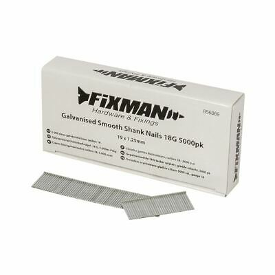 Fixman Galvanised Smooth Shank Nails 18G 5000pk 19 x 1.25mm 856869