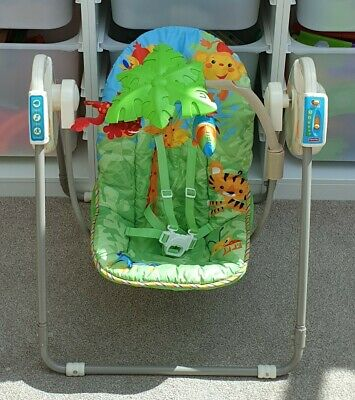 Fisher Price Rainforest Take Along Swing Fold Up Music Excellent Condition
