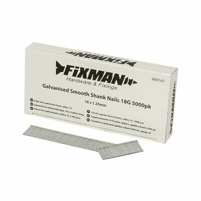 Fixman Galvanised Smooth Shank Nails 18G 5000pk 16 x 1.25mm 868140