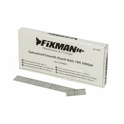 Fixman Galvanised Smooth Shank Nails 18G 5000pk 12 x 1.25mm 861880