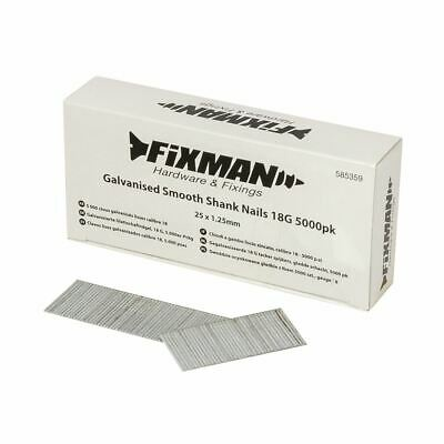 Fixman Galvanised Smooth Shank Nails 18G 5000pk 25 x 1.25mm 585359