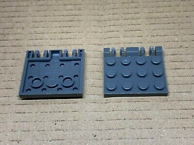 2 x LEGO BLACK Hinge Plate Parts Pieces Long *CHEAPEST ON *