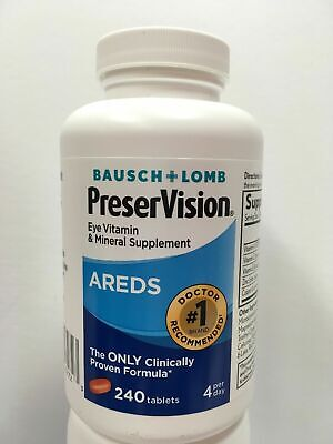 Bausch + Lomb PreserVision AREDS Eye Vitamin Dietary Supplement - 240 Tab 03/20