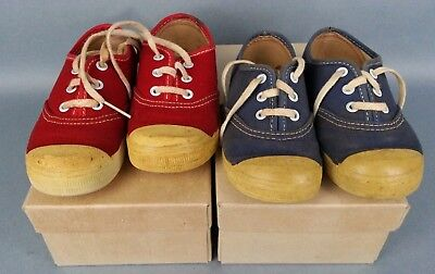 60's 70's Vintage 2 Pair Sears Jeepers Toddler Shoes Circular Vamp