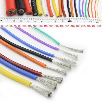 UL Strand Wire 14/16/18/20/22/24/26/28/30awg Silicone Flexible Cables Coloured