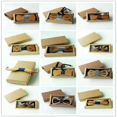 30 Styles Wooden Bow Ties Novelty Men's Popular Wedding Tuxed bowtie Necktie
