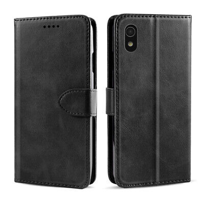 Calf Grain PU Leather Flip Wallet Case Cover Card Holder for ZTE Blade A530/A606