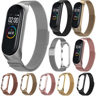 New For Xiaomi MI Band 4 Bracelet Strap Milanese Loop Stainless Steel Wrist Band