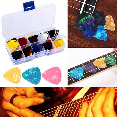 100pc Guitar Picks Plectrums With Case For Acoustic Ukulele Electric Guitar Bass