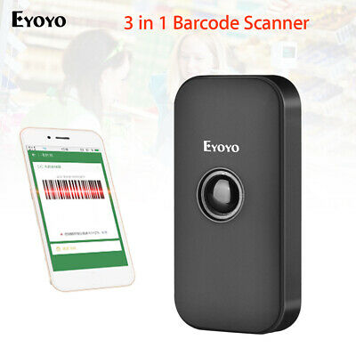 Eyoyo 2.4G Wireless & Wired & Bluetooth Barcode Scanner for Phone PC iPhone