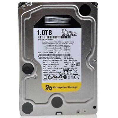 "Western Digital RE4 1TB WD1003FBYX 7200 RPM SATA 3.5"" Desktop HDD Hard Drive"