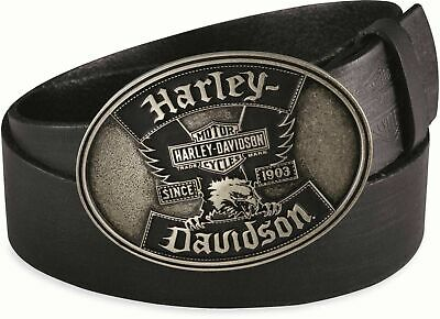Harley Davidson Men's Iconic Eagle Leather Belt & Buckle  RRP $110   Size 32
