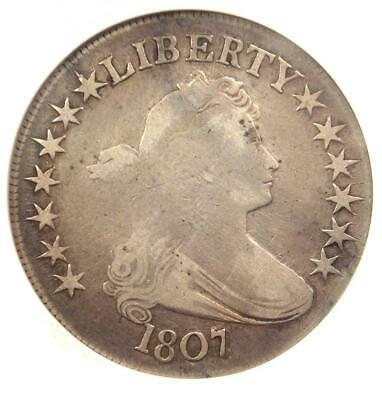 1807 Draped Bust Half Dollar 50C Coin - Certified ANACS Fine Details!