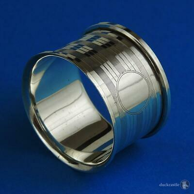Fine George V LARGE STERLING SILVER NAPKIN RING Chester 1913 Haseler Brothers