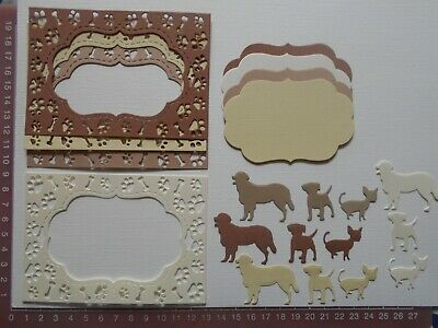 Die cuts - Dogs, Paw Prints Frames, Tags x  4 Sets  20 Pieces