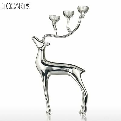 Candle Holders Deer Candlestick Metal 6-arms Candelabros Alloy Home Decor Candle