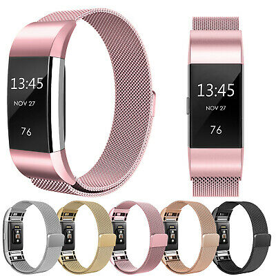 Für Fitbit Charge 2 Armband Edelstahl Ersatz Band Replacement Metall Wrist Strap