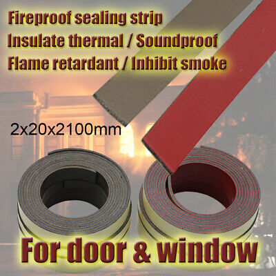 20mm Self Adhesive Fireproof Intumescent Fire Safe Sealing Strip Door Frame Seal