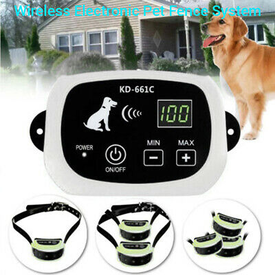 Electric Waterproof Wireless Fence System Pet Dog Transmitter Collar Anti Lost