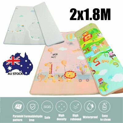 Baby Crawling Thick Play Mat Game Rug Children Carpet Floorcover Mat 200*180cm